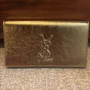 Ysl bronze gold clutch
